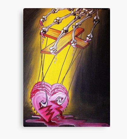 PUPPETED HEART Canvas Print