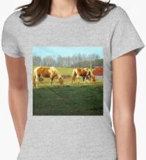 grazing horses Women's Fitted T-Shirt