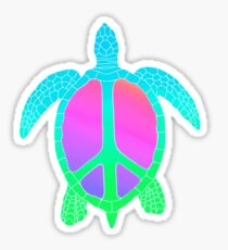 Rainbow Peace Turtle Sticker