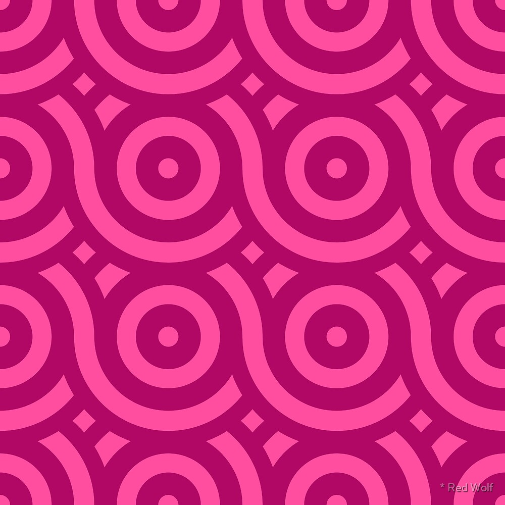 Geometric Pattern: Loop: Berry by * Red Wolf