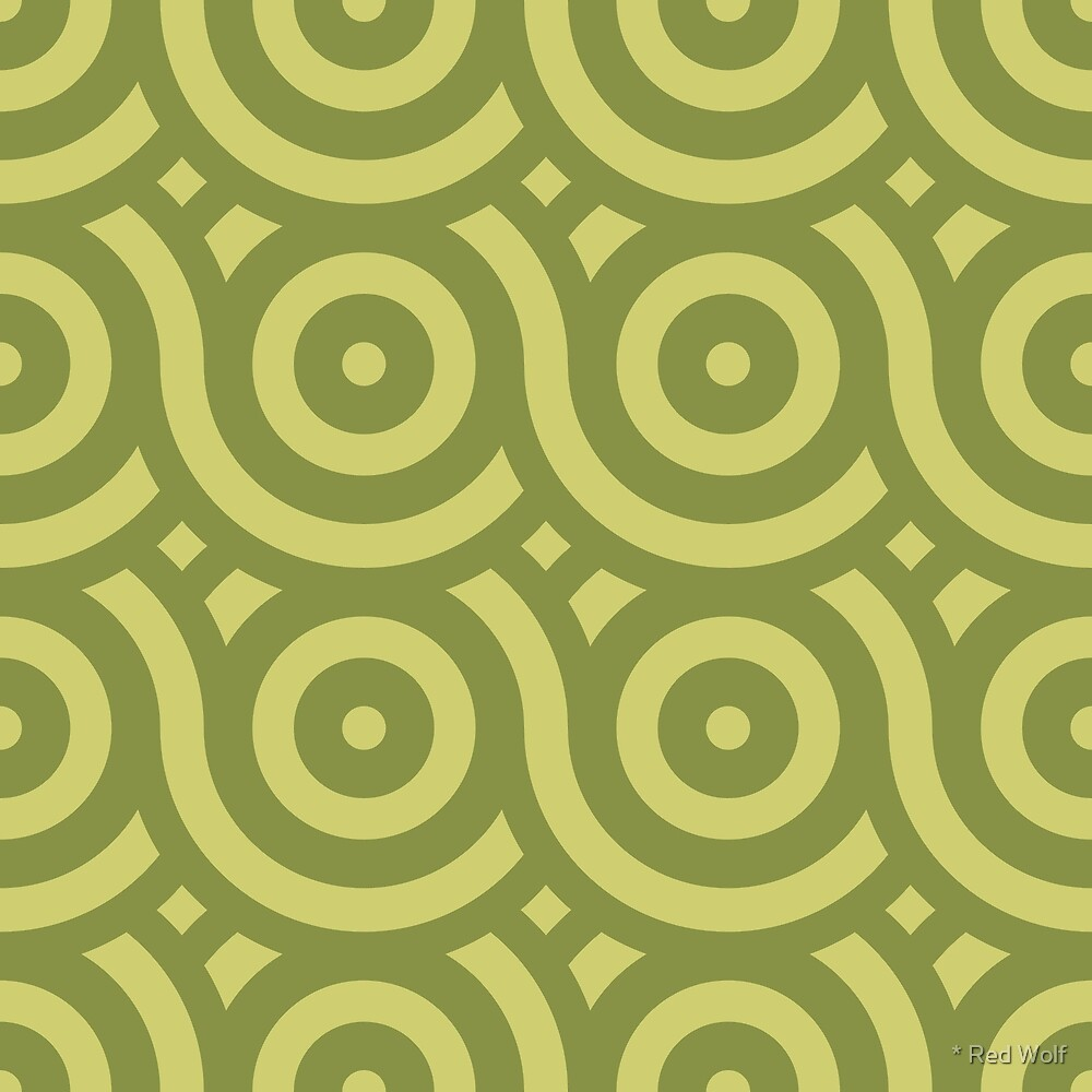 Geometric Pattern: Loop: Olive by * Red Wolf