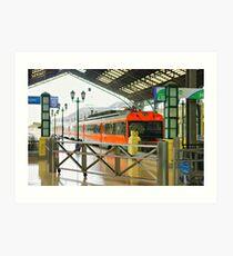 the train is leaving Art Print