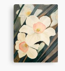 Narcissus Flowers in the Early Garden Metal Print