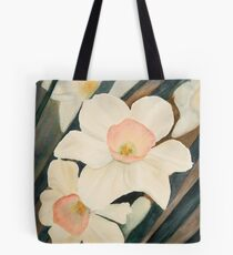 Narcissus Flowers in the Early Garden Tote Bag
