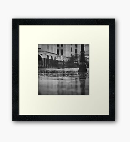 rainy day in Jerusalem Framed Print