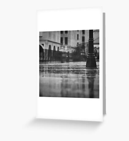 rainy day in Jerusalem Greeting Card