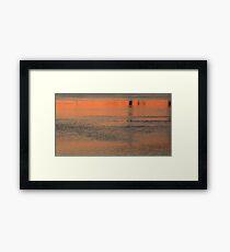 Sunrise color in water Framed Print
