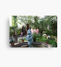 In the Palmhouse II Canvas Print