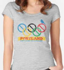 Portland Nolympics Women's Fitted Scoop T-Shirt