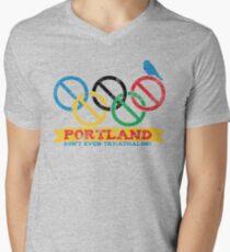 Portland Nolympics Men's V-Neck T-Shirt
