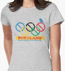 Portland Nolympics Women's Fitted T-Shirt