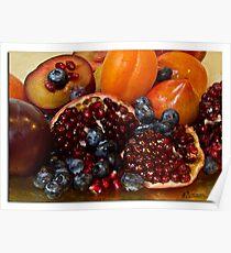Fruit studio shot Poster