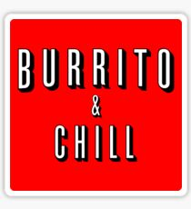 Burrito and Chill Sticker