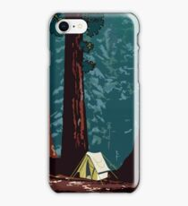 Vintage WPA Camping in Sequoia National Park iPhone Case/Skin