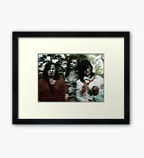 The zombie family Framed Print