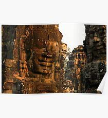 The Bayon temple, Angor complex, Cambodia. Poster