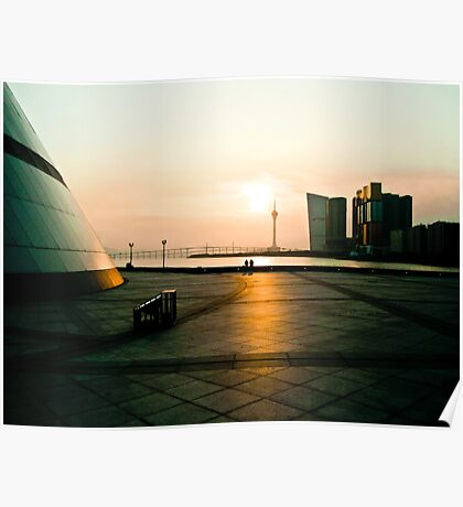 Sunset in Macau Poster