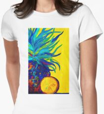 Blue Pineapple Abstract T-Shirt