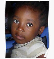 Bright eyes in Brazzaville, Republic du Congo Poster
