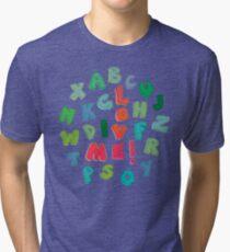 Love Me! alphabet tee Tri-blend T-Shirt