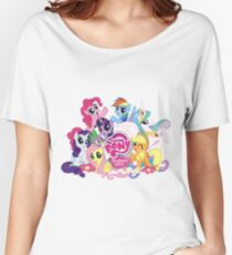 My Little Pony Mane6 and Logo Women's Relaxed Fit T-Shirt