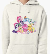 My Little Pony Mane6 and Logo Pullover Hoodie