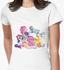 My Little Pony Mane6 and Logo Women's Fitted T-Shirt