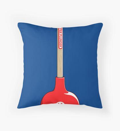 Super Plunger Throw Pillow