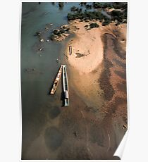 Boats from above. Poster
