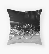 Monochrome Lathe Throw Pillow