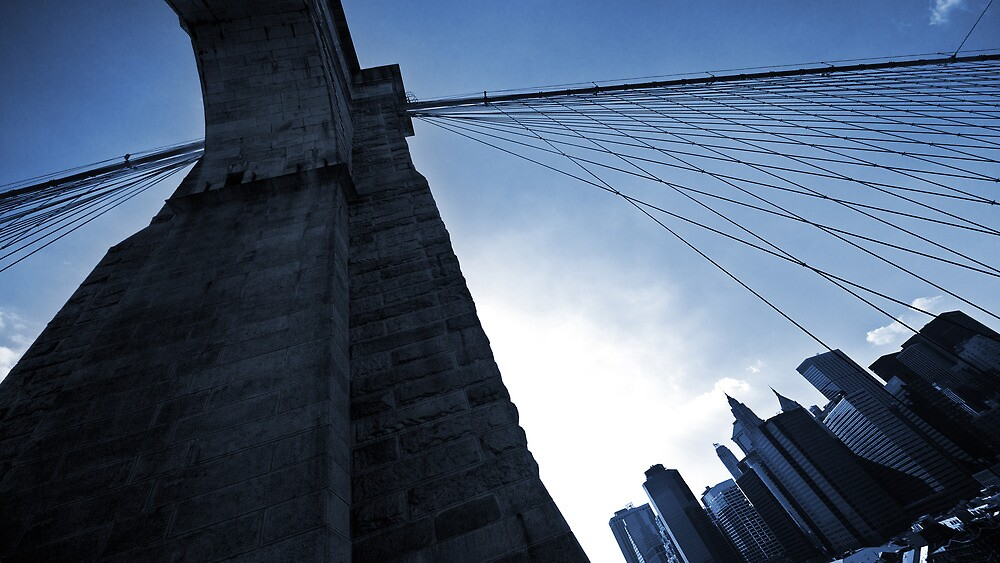 Falling Lines - Brooklyn Bridge II by Thomas Splietker