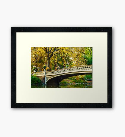 Autumn in Central Park, Study 2 Framed Print