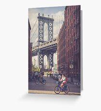 Bike Ride in Dumbo Greeting Card
