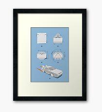 Origami DeLorean Framed Print