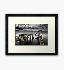 Tokaanu Deadwood Wharf Framed Print