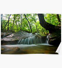 Korean waterfall in Seoraksan Poster
