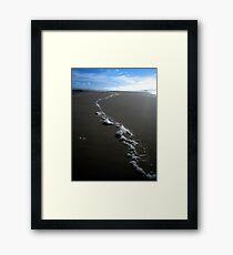 """""""Tidal Foam"""" Framed Print"""