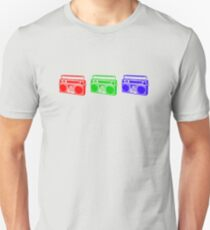 3 Boomboxes: RGB T-Shirt