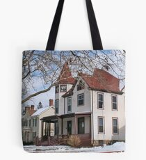 House with a Red Roof Tote Bag