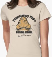 Punxsutawney Phil's Driving School Women's Fitted T-Shirt