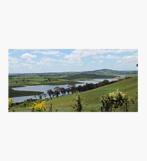 Landscape view of Lake Carcoar Photographic Print