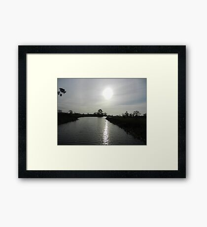 Following the light Framed Print