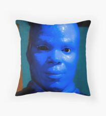 Blue Man Throw Pillow