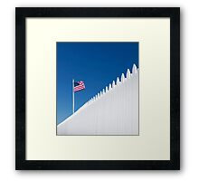 Our White Picket Fence. Framed Print
