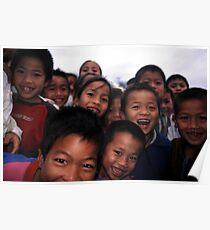 Smiling Laos kids. Poster