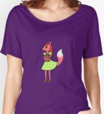 Bookworm Fox Women's Relaxed Fit T-Shirt