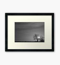 Rising Sun in Black and White Framed Print