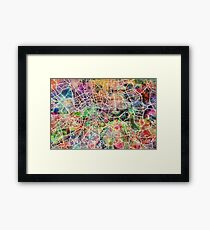 London Map Art Watercolor Framed Print