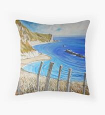 Man O War - from the cliff top. Throw Pillow