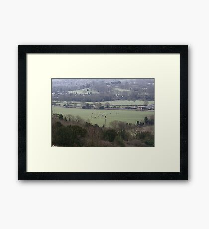 Countryside Shapes Framed Print